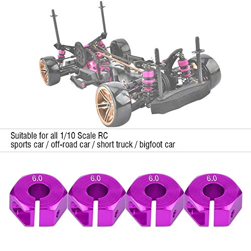 Rad-Sechskant-Adapter, 12mm Universal-Rad-Sechskant-Adapter für HSP Sakura 1/10 RC Auto(6 mm / 0,24 Zoll- Lila)