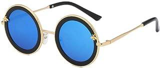 MNJKN&HKHV - Gafas De Sol Nuevas Gafas De Sol Redondas para Niños Gafas De Sol De Metal Bee Cute Baby Gafas De Sol para Niños Niñas