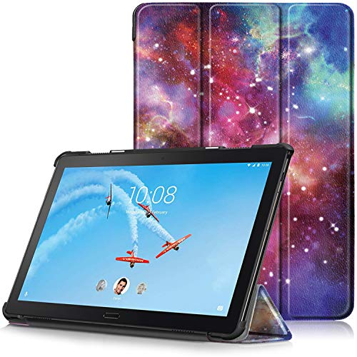 TTVie Case for Lenovo Tab P10, Ultra Slim Lightweight Smart Shell Stand Cover with Auto Wake/Sleep Function for Lenovo Tab P10 10.1' Full HD IPS Display Tablet 2018 Release, Milky Way