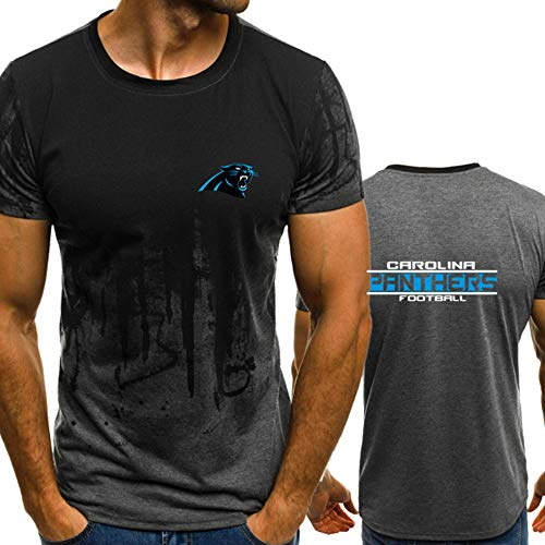 Haoshangzh55 New Jersey NFL T-Shirts Männer Carolina Panthers Schnell Trocknend Trikots Shirts T-Shirt Rugby Football Supporters Unisex-Milch-Silk T-Shirt,L(170~175cm)
