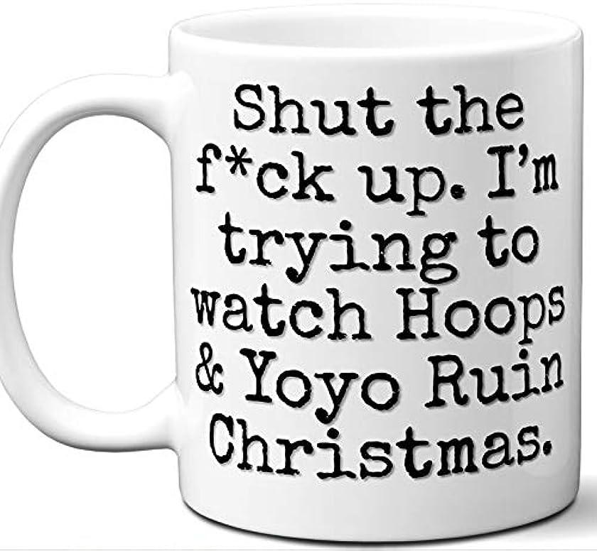 Hoops & Yoyo Ruin Christmas Gift Mug. Funny Parody TV Show Lover Fan