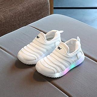 XFTOPSE Zapatillas de deporte para niños, con luces LED, co