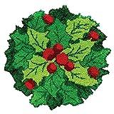 Ur HQCC Christmas Leaf Latch Hook Rug Kits for Adults Kids Beginners DIY Rug Crochet Yarn Kits DIY Handmade Carpet Embroidery Tapestry Sets Creative Gift Crafts for Kids Home Decor 20' X 20'