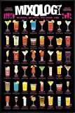 Close Up Mixology Poster One Cocktail. Two Cocktails (93x62