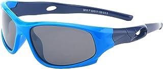 Kids Polarized Sport Sunglasses Soft TPEE Rubber Flexible Frame for Boys & Girls Age 3-11