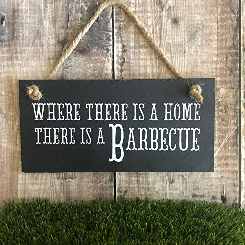 Yilooom Cartello per Barbecue, Regalo per Barbecue. Targhetta per Barbecue, per Esterni, per Barbecue. Cartelli da Giardino. Targa da Giardino, Idea R