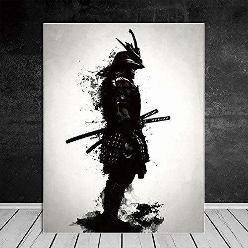 RuYun Samurai japonés Lienzo Pintura al óleo Moderna Pared Arte Cuadros Lienzo impresión para Sala HD decoración del hogar Carteles e Impresiones 40cm_x60cm_No_Frame