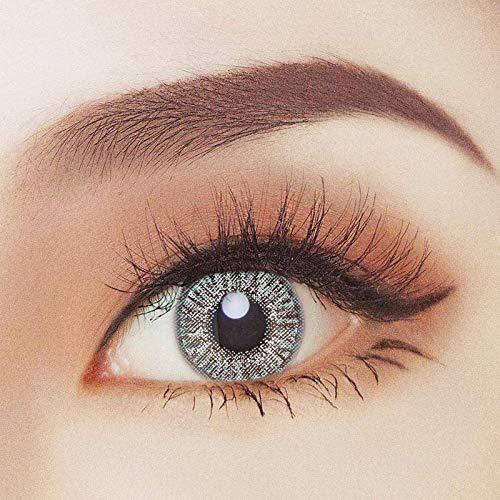 2x farbige Kontaktlinsen Grau - 2 Kontaktlinsen ohne Stärke