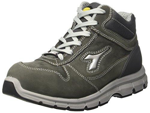 Diadora Run High S3 Scarpe da lavoro, Unisex adulto, SRC, Grigio (Grigio Castello), 47 EU (12 UK)