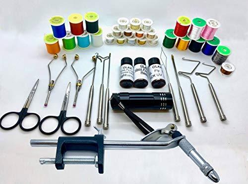 Cronos HQ Fly Tying Kit, Vice, Thread, Tinsel, Floss, Whip, Bobbin, Scissors, Uv Glue, Torch