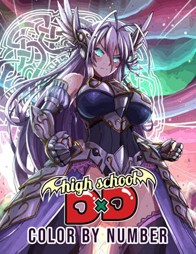 Highschool DxD Color By Number: Issei Hyodo Harem King Anime Manga Illustration Color Number Book for Adults Stress Relief