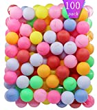 TADICK 100 Pack Beer Ping Pong Balls Plastic Multiple Color Table Tennis Ball