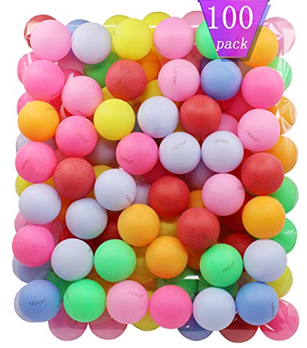 TADICK Beer Ping Pong Balls Plastic Multiple Color Table Tennis Ball 100 Pack