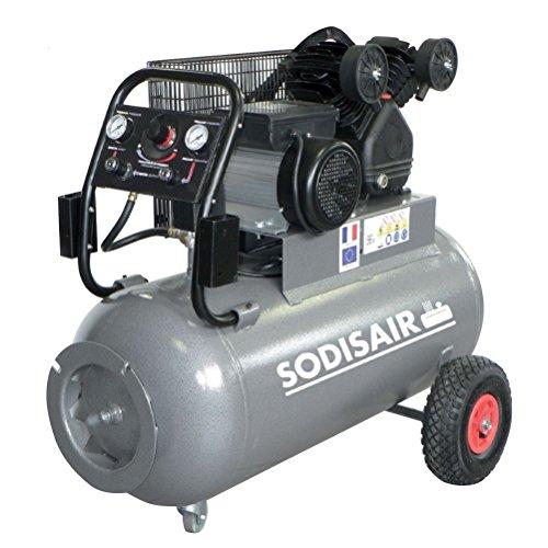 Compresseur 100 litres en V Bicylindre en Fonte 230 Volts Mono