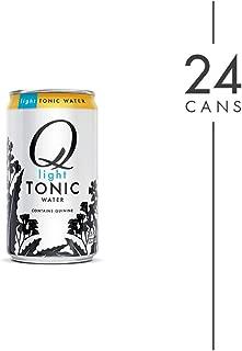 Q Mixers Light Tonic Water, Premium Cocktail Mixer, 7.5 oz (24 Cans)