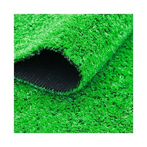 ALGWXQ Gazon Artificiel Ignifuge Infiltration d'eau Automatique Doux Bureau Jardin d'enfants Terrain Football Fausse Herbe, 2 Sortes Vert, Épais 1.5cm (Color : B, Size : 2x10m 1.5cm)