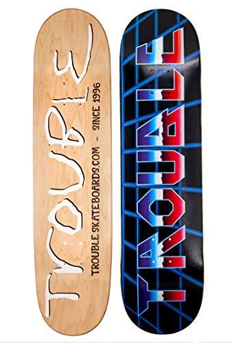 TROUBLE SKATEBOARDS Skateboard Deck 8.0 8.1 8.25 8.50 North American Maple Professional Decks (D29) (8.25)