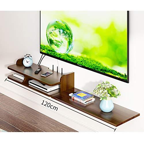 Estantes de pared Entretenimiento flotante muebles de madera maciza Moderno Estante, WIFI Router Estante de almacenamiento Caja de almacenamiento Revista Decoración de pared creativo colgante del Set-