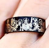 Princess Leia Han Solo I Love You I Know Wedding Ring Engagement Ring StarWars Jewelry Wedding Ring Darth Vader Emperor Palpatine Wedding Band, Deathstar Ring, StarWars Jewelry