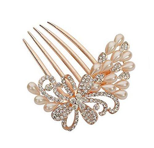 Perle de cheveux en perles de style européen Metal Rhinestones Décoration de cheveux, perles 1