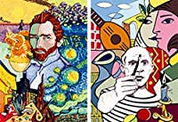 2 - Picasso and Van Gogh - 3D Lenticular Postcard Greeting Cards - Juan Carlos Espejo [並行輸入品]