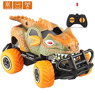 LOFEE Dinosaur Toys for 2-10 Year Old Boys?Dinosaur Truck Toys for Kids Dinosaur Toys for Boys 3-9 Year Old Best Gifts for Thanksgiving Christmas Day Gray