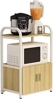 Rangement Cuisine Organisateur étagère Multifonctions de cuisine étagère et armoire à deux niveaux Bois Cuisine Casiers Ut...