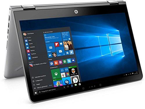 "HP Pavilion x360 14-ba031ns - Ordenador portátil 14"" FullHD (Intel Core i5-7200U, 8 GB RAM, 1 TB HDD, Intel Graphics, Windows 10 ), Plateado - Teclado QWERTY Español"