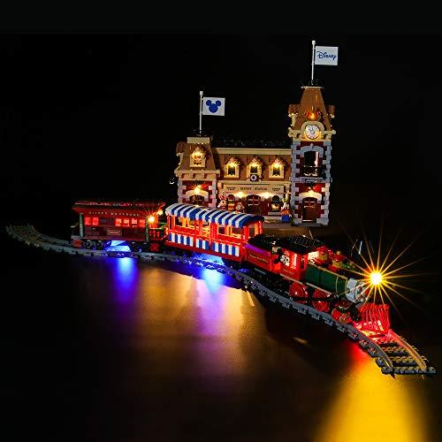 LIGHTAILING Licht-Set Für (Disney Zug mit Bahnhof) Modell - LED Licht-Set Kompatibel Mit Lego 71044(Modell Nicht Enthalten)