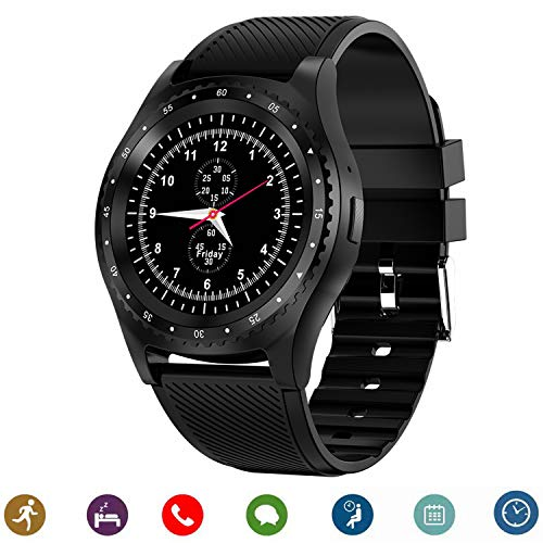 Bluetooth Smartwatch, CanMixs CM08 Smartwatch Phone Support SIM Card TF con sincronizzazione fotocamera Notifiche Fitness Activity Tracker Sport Watch compatibile per Android IOS iPhone Samsung