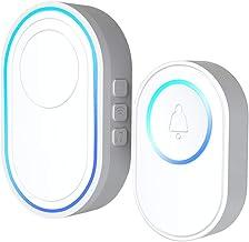 Wireless Doorbell Kit 1PCS Outdoor Doorbell + 1PCS Indoor Chime with LED 5 Levels Volume 58 Ringtones 328ft Operation Rang...