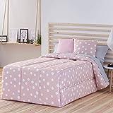 Confecciones Paula - Edredón Conforter Topo - Cama 90 Cm - Color Rosa