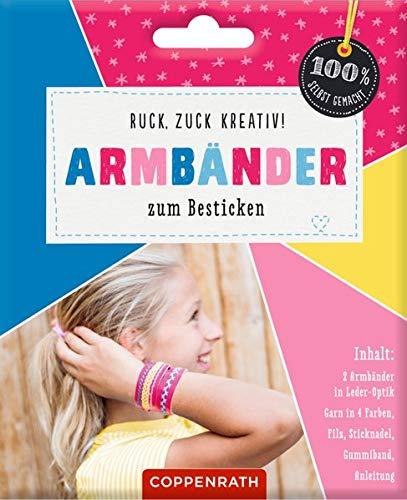 Ruck, zuck kreativ! Armbänder zum Besticken: Armbänder in Leder-Optik - pink (100{faf78e8088bb67df3d28a41f05143a69fb1c18a5691d996a1e502f7b490544a2} selbst gemacht)