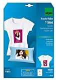 SIGEL IP650 Transferpapier Transferfolie Bügelfolie für helle Textilien & Tintenstrahldrucker, 3 Blatt A4