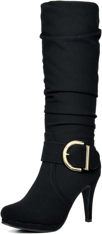 DREAM PAIRS Women's Knee High High Heel Winter Fashion Boots