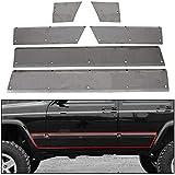 ECOTRIC Lower Door and Side Panel Armor For 1984-2001 Jeep Cherokee XJ 4-door unpainted