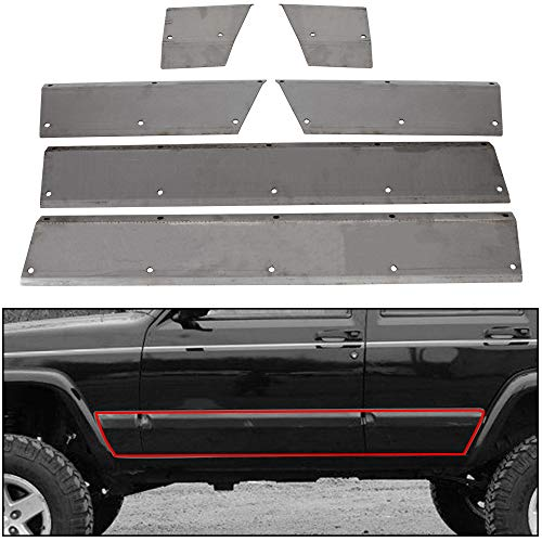 ECOTRIC Lower Door and Side Panel Armor For 1984-2001 Jeep Cherokee XJ 4-door unpainted