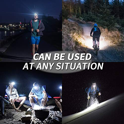 NORYER Head Torch, (3 Pack) Super Bright Headlamps with 4 Modes, Lightweight COB Head Lights for Kids Running Walking Camping Fishing, Cycling,Car Repair, 120 Lumens