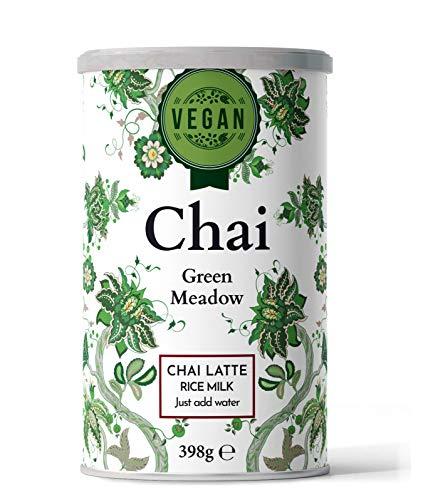 Nordic Roast | Vegan Chai Latte Tee | Green Meadow | 398g | Instant-Chai Tee Latte-Mischung in Pulverform, zu genießen zu Hause, im Café, oder im Restaurant, reicht für 15 Tassen