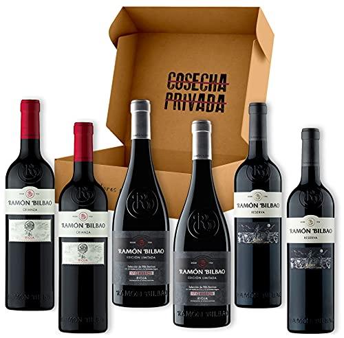 Pack Ramón Bilbao - Estuche Regalo Vino - Envío Gratis 24h - 6 Botellas de Vino Tinto -Enviado por Cosecha Privada