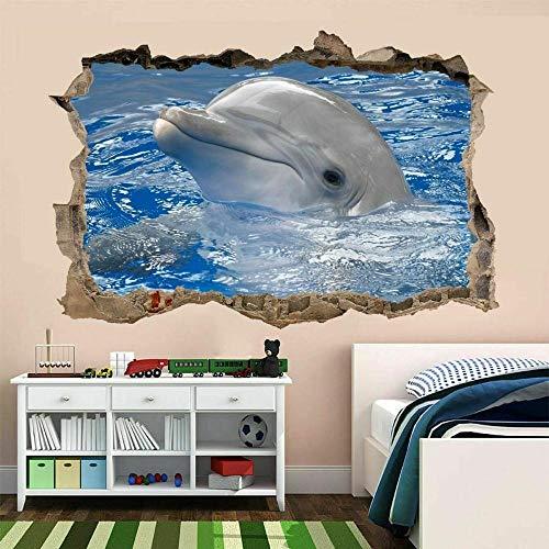 Dolphin Wall Art Sticker Mural Wallpaper Kids Bedroom Home Office Decoration AS5