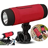 Bluetooth Speaker With Flashlight Wireless Bicycle Speaker Emergency Torchlight 4000mAh Power Bank Support Handsfree Call TF Card FM Radio for Home Outdoor Cycling Riding Camping with Bike Mount Stand