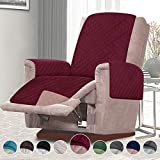 RHF Reversible Recliner Chair Cover, Chair Cover, Recliner Cover, Pet Cover for Chair, Furniture Protector, Machine Washable, Double Diamond Quilted(Recliner-Small:Merlot/Tan)