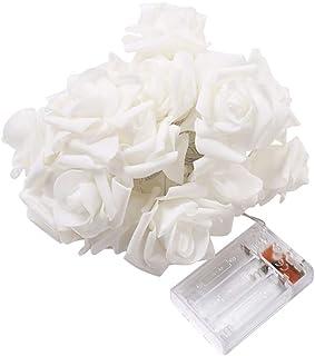 Hemore LED rosa Flor Cadena Luces batería operado Caliente rosa Cadena lámpara decoración hada luz para