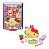 Hello Kitty Taco Party Compact Playset (4.9-in / 12.5-cm) with 2 Sanrio Minis Figures, Stationery Notepad and Accessories, Great Gift for Kids Ages 4Y+