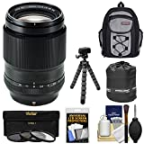 Fujifilm 90mm f/2 XF R LM WR Lens with Backpack + 3 UV/CPL/ND8 Filters + Tripod + Pouch + Kit for X-A2, X-E2, X-E2s, X-M1, X-T1, X-T10, X-Pro2 Cameras