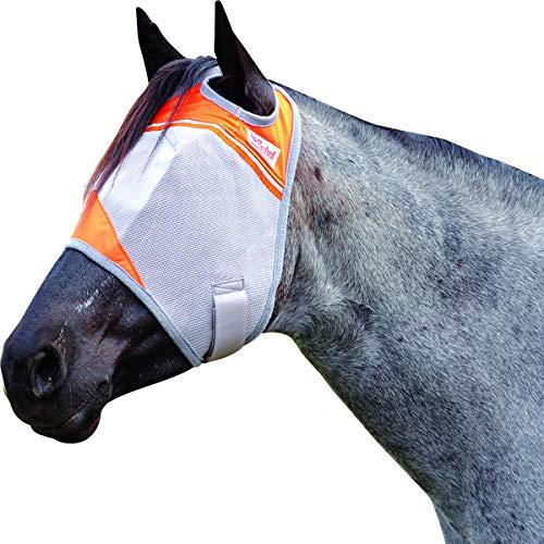 Cashel Crusader Standard Fly Mask with Orange Trim, Animal Rescue Benefit - Size: Horse