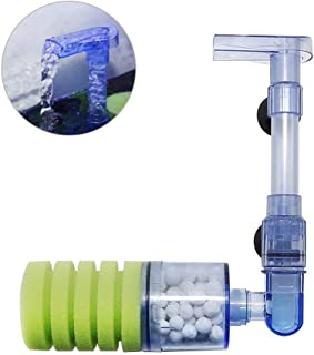 Upettools Aquarium Filter, Ultra Quiet Aquarium Biochemical Sponge Filter Fish Tank Air Pump Betta Fry Aquarium Fish Tank Water Fall Double Foam Sponge Filters