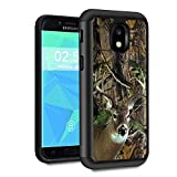 Galaxy J3 2018 Case,J3 V 3rd Gen/J3 Star/J3 Achieve/Amp Prime 3 Case,Spsun Dual Layer Hybrid Hard Protector Cover Anti-Drop TPU Bumper for Samsung Galaxy J3 2018,Deer Hunting Camo
