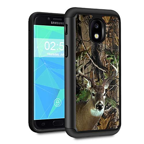 Galaxy J3 2018 Case,J3 V 3rd Gen/J3 Star/J3 Achieve/Amp Prime 3 Case,Spsun Dual Layer Hybrid Hard Protector Cover Anti-Drop TPU Bumper for Samsung Galaxy J3 2018,Deer Hunting Camo